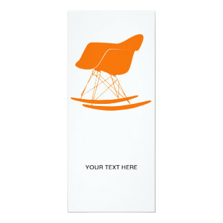 "Eames molded plastic rocking chair 4"" x 9.25"" invitation card"