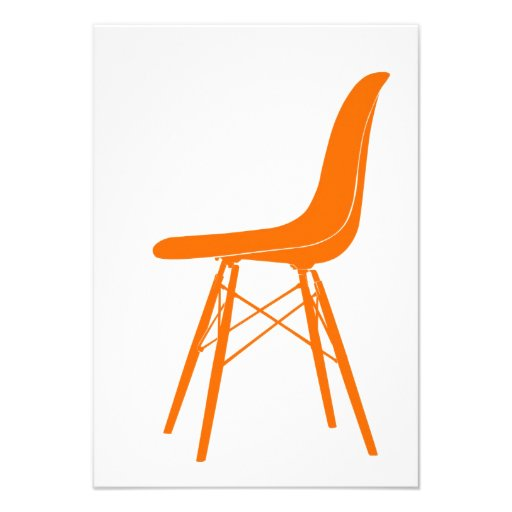 Eames molded plastic side chair personalized invitations