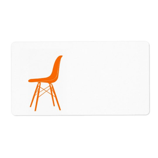 Eames moulded plastic side chair shipping label