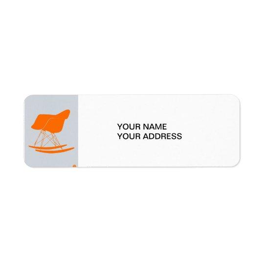 Eames Rocking chair Return Address Label