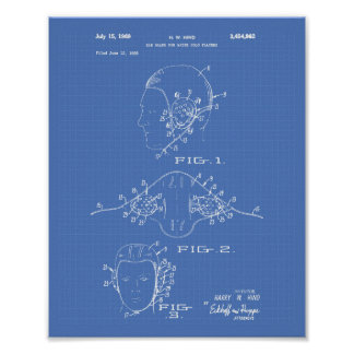 Ear Guard Water Polo 1969 Patent Art Blueprint Poster