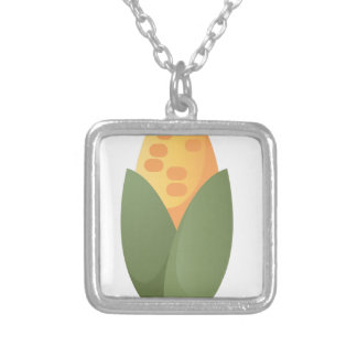 Ear Of Corn Silver Plated Necklace