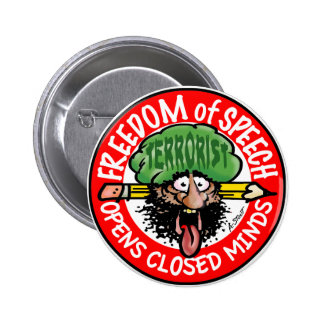 EARFUL of FREE SPEECH! 6 Cm Round Badge