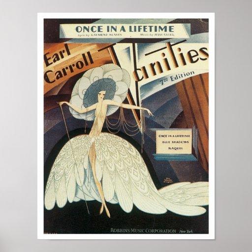 Earl Carroll Vanities Songbook Cover Posters