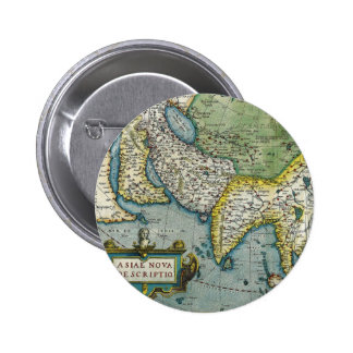 Early 16th Century Map of Asia Button