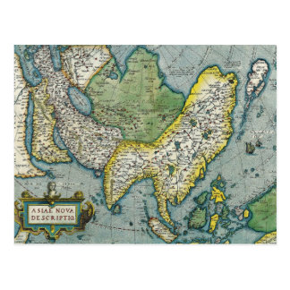 Early 16th Century Map of Asia Postcard