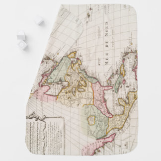 Early (1708) American Map ~ Vintage, L'Amerique Baby Blanket