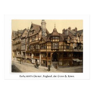 Early 1900's Chester, England street scene Postcard