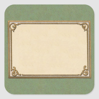 Early 1900s Frame Square Sticker