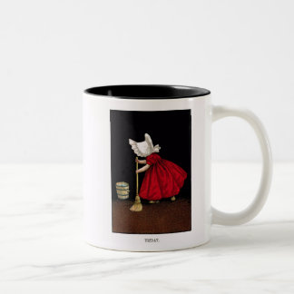 Early 1900's Friday Sunbonnet Sue Coffee Mug