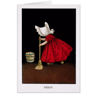 Early 1900's Friday Sunbonnet Sue Greeting Card