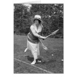 Early 1900s Tennis Fashion Greeting Card