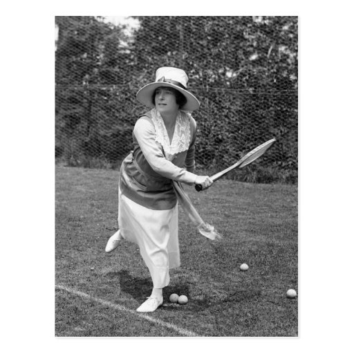 Early 1900s Tennis Fashion Postcards