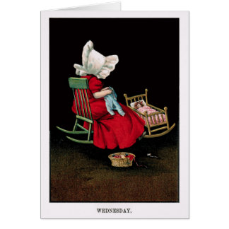 Early 1900's Wednesday Sunbonnet Sue Greeting Card