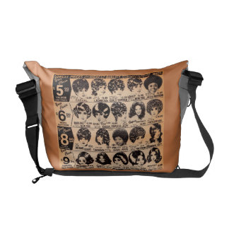 early 1970s wig advertisement courier bags