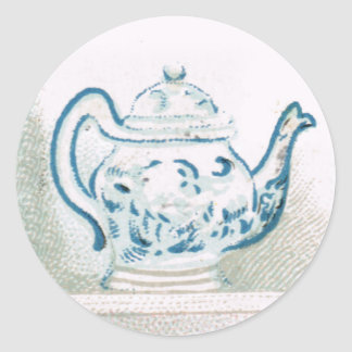Early 20th Century Blue and White Teapot Sticker