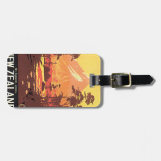 Early 20th century New Zealand Painting Luggage Tag