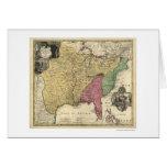 Early America Map 1763 Card