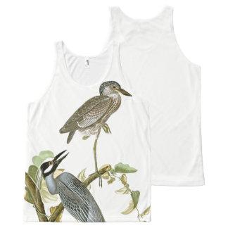 Early Audubon Heron Birds Wildlife Tank Top