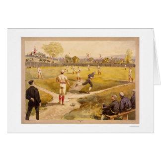 Early Baseball Print 1887 Greeting Cards