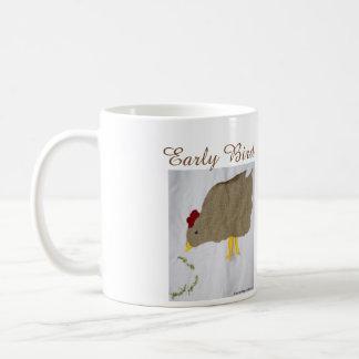 """""""Early Bird"""" Chicken and Worm Coffee Mug"""