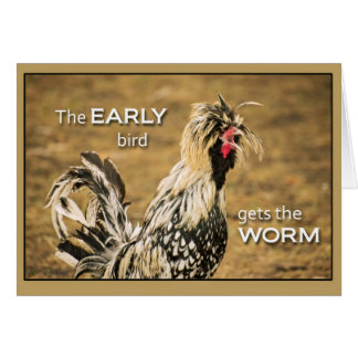 Early Bird Gets the Worms Card
