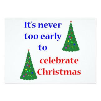 Early Christmas 13 Cm X 18 Cm Invitation Card