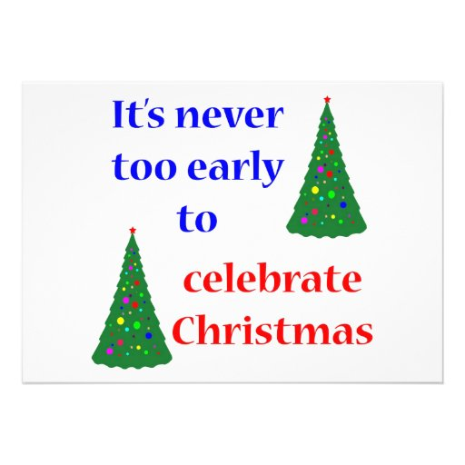Early Christmas Custom Invites