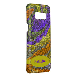 Early Color and Purple Geometric Design Case-Mate Samsung Galaxy S8 Case