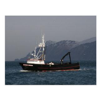 Early Dawn, Crab Boat in Dutch Harbor, AK Postcard