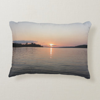 Early Evening Sunset On Lake Vermilion h-throw Decorative Cushion