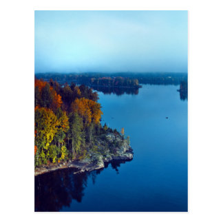 Early fall at lake in South-East Finland Postcard