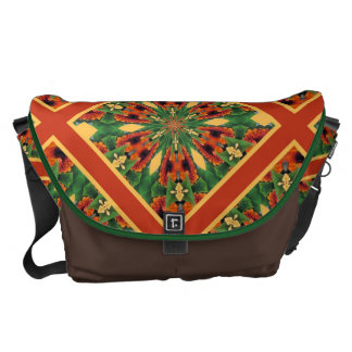 Early Fall Flowers Cheery Floral Motif Pattern Courier Bag