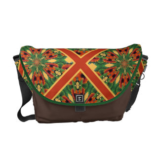 Early Fall Flowers Cheery Floral Motif Pattern Messenger Bags