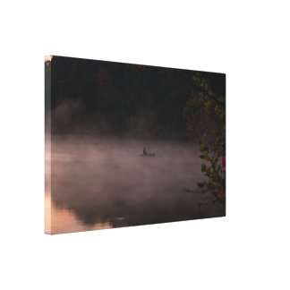 Early Foggy Fishing Canvas Print