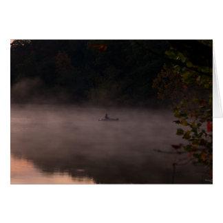 Early Foggy Fishing Card