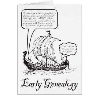 Early Genealogy Card