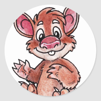 Early Mammal Classic Round Sticker