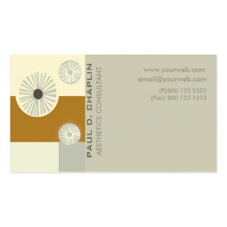 Early Modern Minimal Aesthetics Consultant Pack Of Standard Business Cards