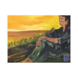 Early moring,  Alone on the River  Sarr Canvas Print