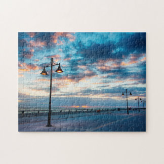 Early Morning along Atlantic Ocean and the Key Jigsaw Puzzle