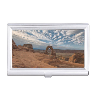 Early Morning at Delicate Arch Business Card Holder