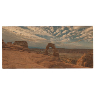 Early Morning at Delicate Arch Wood USB 2.0 Flash Drive