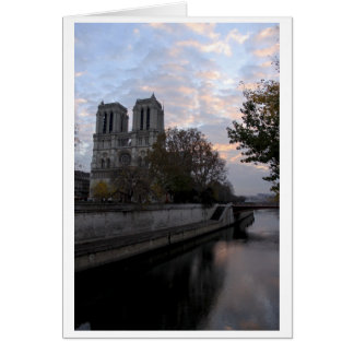 Early Morning at Notre-Dame Card
