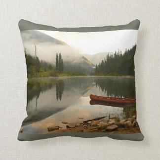 Early morning at the lake cushion