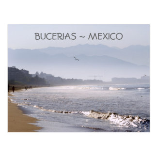 Early Morning Bucerias Beach Mexico Postcard