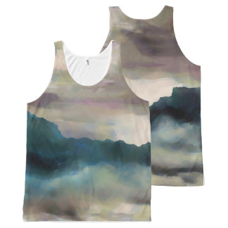 Early Morning Clouds Consume the Mountains All-Over Print Singlet