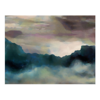Early Morning Clouds Consume the Mountains Postcard
