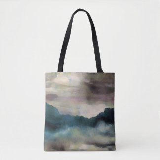 Early Morning Clouds Consume the Mountains Tote Bag