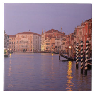 early morning Grand Canal Tour, Venice, Italy Large Square Tile